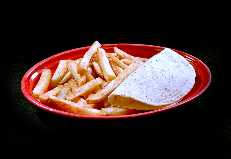 #5 Cheese Quesadilla with Fries or Rice